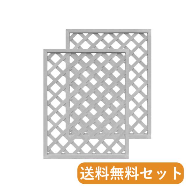 [セット] アイウッド格子ラティス1290 ホワイト◇ 幅900mmX高1200mm X1290W