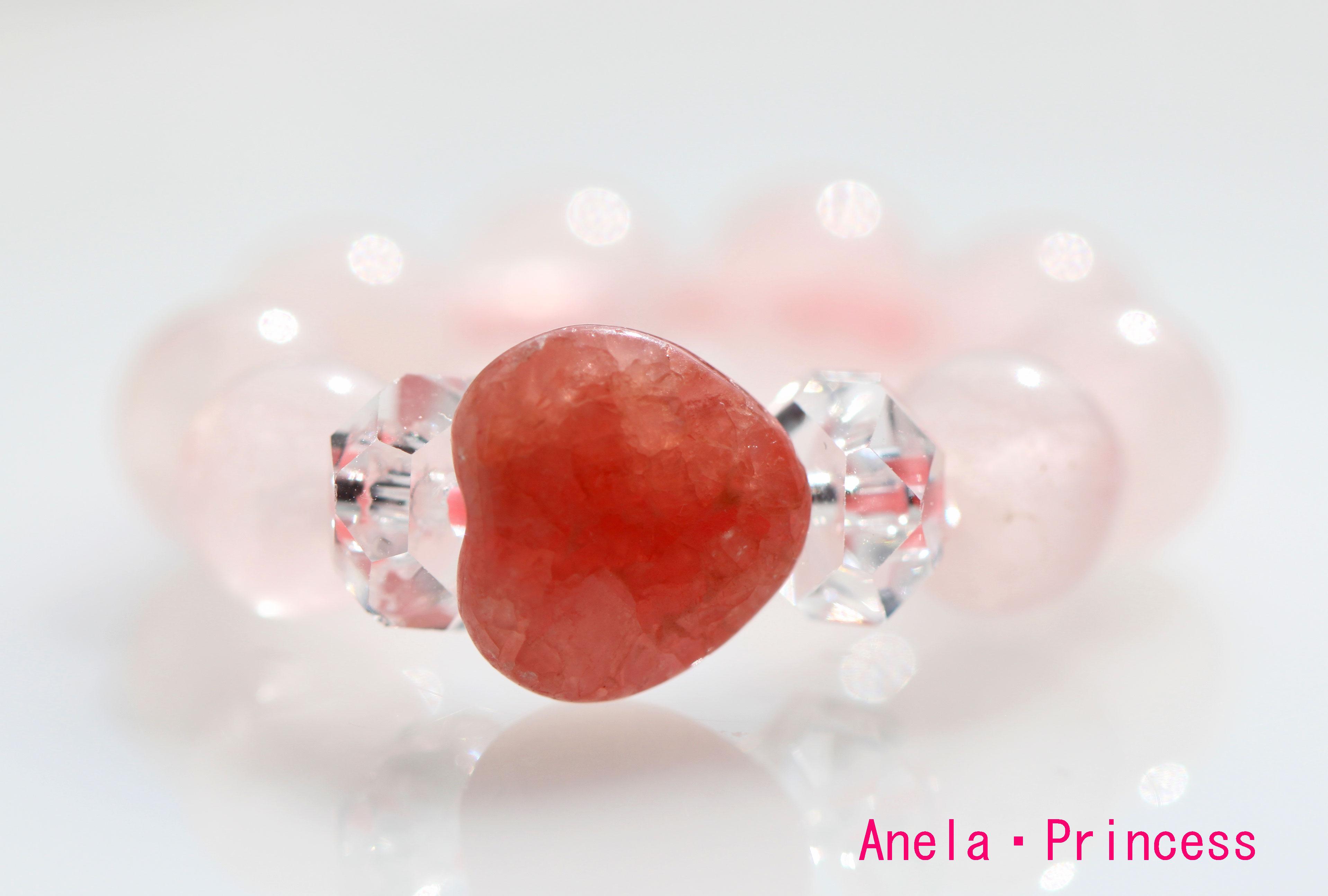 結婚とパートナーとの絆を深めるハートインカローズローズクォーツ妖精指輪
