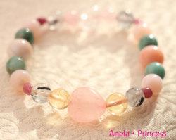 エメラルドとピンクオパール、ピンクトルマリン、ピンクカルサイト美と癒し心身の浄化パワーストーンブレスレット