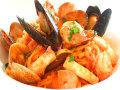 生パスタ たらば蟹と魚介のトマトソース