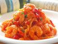 生パスタ カポナータと海老のトマトソース