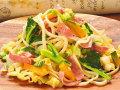 な花・野菜・しばれサラミのオリーブオイルソース 生パスタ