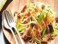 生パスタ 塩漬け豚と野菜のオリーブオイル