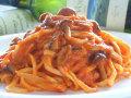 生パスタ きのことツナのトマトソース