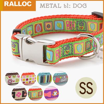 【メール便のみ送料無料】ラロック メタルビードッグカラー SSサイズ 超小型犬用首輪 (メール便可 ギフト包装可)