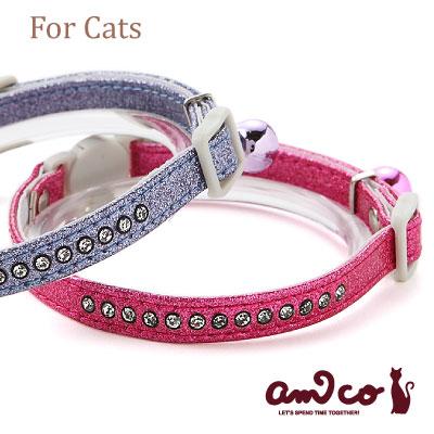 【メール便のみ送料無料】ラロック アミコ 猫の首輪 ラメダイヤ猫カラー (メール便可 ギフト包装可)