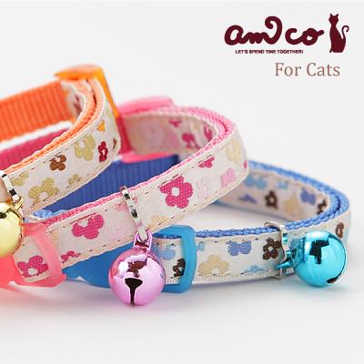 【メール便のみ送料無料】ラロック アミコ 猫の首輪 リボンフラワー猫カラー (メール便可 ギフト包装可)