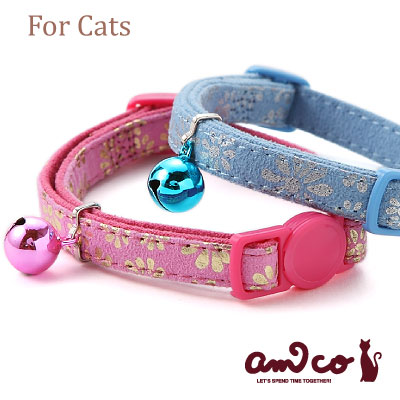 【メール便のみ送料無料】ラロック アミコ 猫の首輪 マットフラワー猫カラー (メール便可 ギフト包装可)