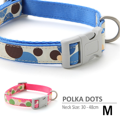 ラロック 水玉カラー Mサイズ 中型犬用首輪