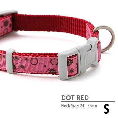 ラロック ドットレッドカラー Sサイズ 小型犬用首輪