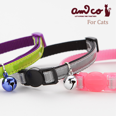 ラロック アミコ 猫の首輪 光に反射する猫カラー 01