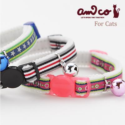 【メール便のみ送料無料】ラロック アミコ 猫の首輪 スポーティポップ猫カラー (メール便可 ギフト包装可)