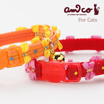 【メール便のみ送料無料】ラロック アミコ 猫の首輪 ヒラヒラリボン猫カラー (メール便可 ギフト包装可)