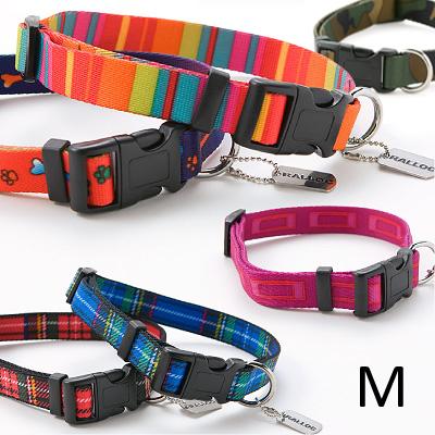犬 首輪 ラロック ソフトタッチカラー Mサイズ 中型犬用首輪