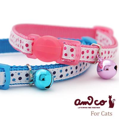 ラロック アミコ 猫の首輪 水玉猫カラー