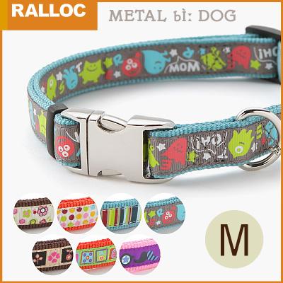 【メール便のみ送料無料】ラロック メタルビードッグカラー Mサイズ 中型犬用首輪 (メール便可 ギフト包装可)