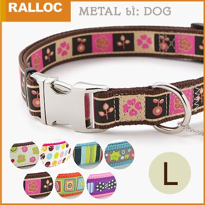 犬 首輪 ラロック メタルビードッグカラー Lサイズ 大型犬用首輪
