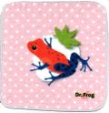 カエル博士(Dr.Frog)タオルハンカチ イチゴヤドクガエル