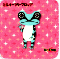 カエル博士(Dr.Frog)タオルハンカチ ミルキーフロッグ