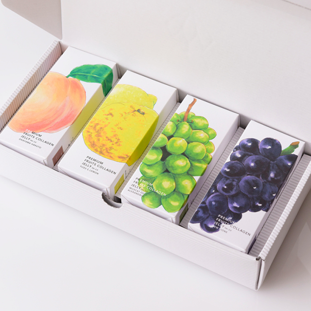 【日本ギフト大賞受賞】プレミアムフルーツコラーゲンゼリー12本4種セット
