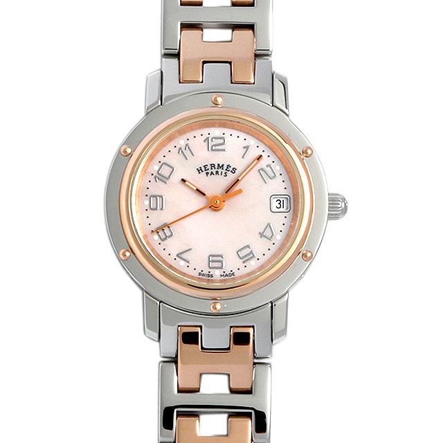 彼女へのクリスマスプレゼント 高級腕時計 エルメス クリッパーナクレ ベゼル12P CL4.230.212/3821