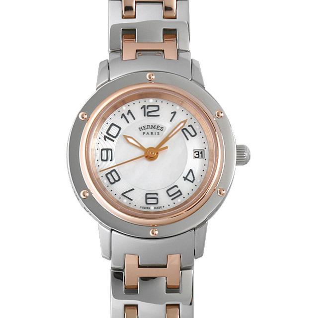 彼女へのクリスマスプレゼント 高級腕時計 エルメス クリッパー ナクレ 035321WW00(CP1.221)