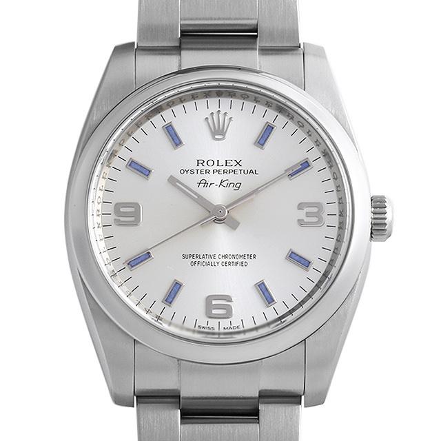 彼氏へのクリスマスプレゼント 高級腕時計 ロレックス オイスターパーペチュアル 114200 シルバー/369 ブルーバー