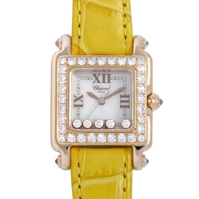 彼女へのクリスマスプレゼント 高級腕時計 ショパール ハッピースポーツ ダイヤベゼル 27/6850-20/11