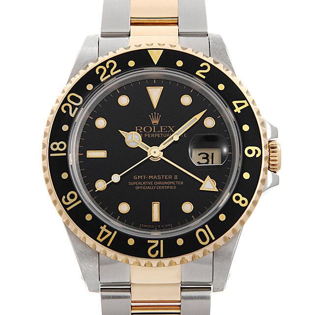 ロレックス GMTマスターII 16713 ブラック/3列 E番 中古 メンズ
