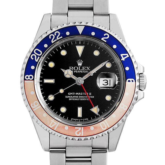 ロレックス GMTマスターII 赤黒ベゼル X番 16710 中古 メンズ