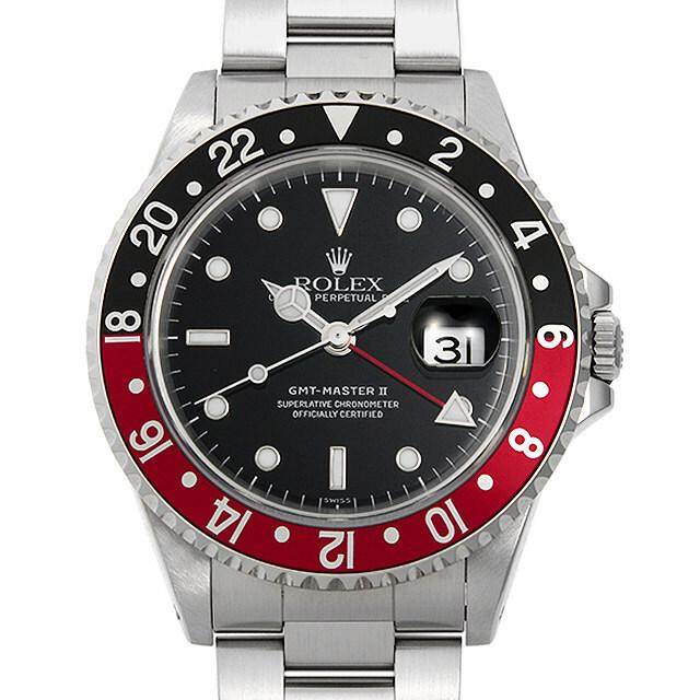 ロレックス GMTマスターII 赤黒ベゼル 16710 A番