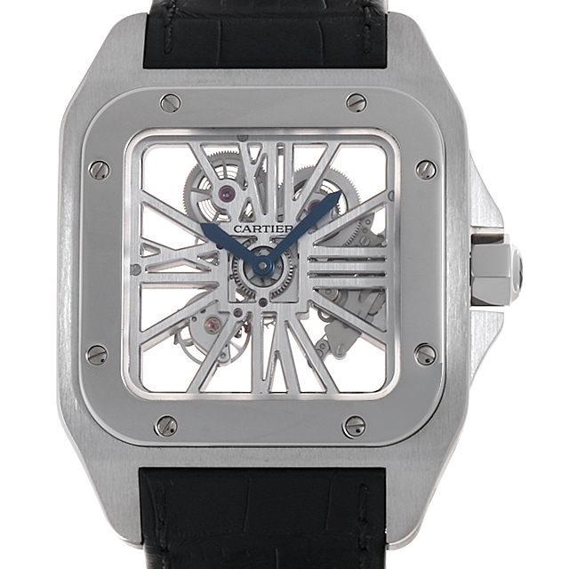 W2020018 Cartier(カルティエ) サントス100 スケルトンウォッチ XL 中古/中古・新品時計なら銀座RASIN-ロレックス、パテックフィリップ、フランクミュラーなど U ...