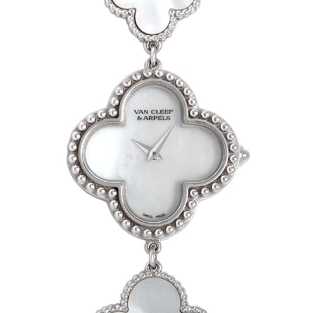 彼女へのクリスマスプレゼント 高級腕時計 ヴァンクリーフ&アーペル ヴィンテージ アルハンブラ ブレスレットウォッチ VCARO40S00