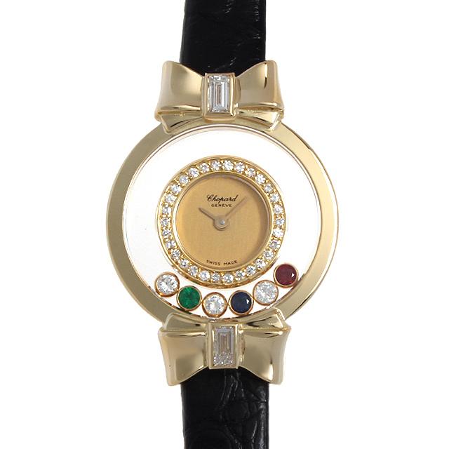 彼女へのクリスマスプレゼント 高級腕時計 ショパール ハッピーダイヤモンド リボン 20/5334