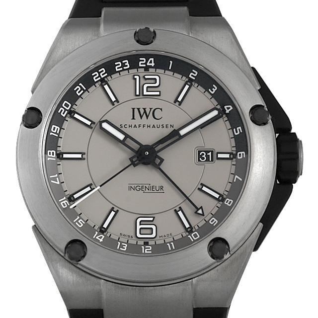 IWC インヂュニア デュアルタイム チタニウム IW326403 中古 メンズ