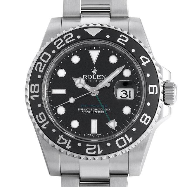 彼氏へのクリスマスプレゼント 高級腕時計 ロレックス GMTマスターII 116710LN スティックダイアル