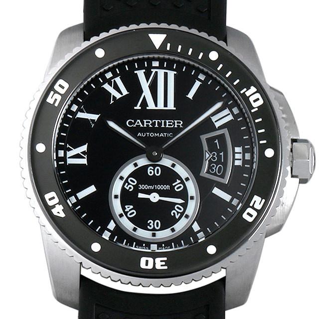 彼氏へのクリスマスプレゼント 高級腕時計 カルティエ カリブル ドゥ カルティエ ダイバー W7100056