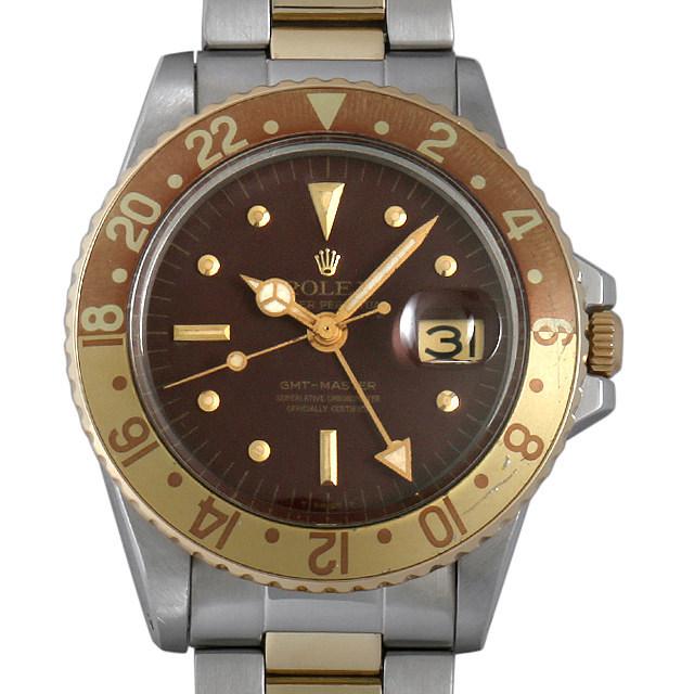 ロレックス GMTマスター 24番 1675 マットブラウン/フジツボ アンティーク メンズ