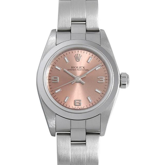 彼女へのクリスマスプレゼント 高級腕時計 ロレックス オイスターパーペチュアル 76080 ピンク/369