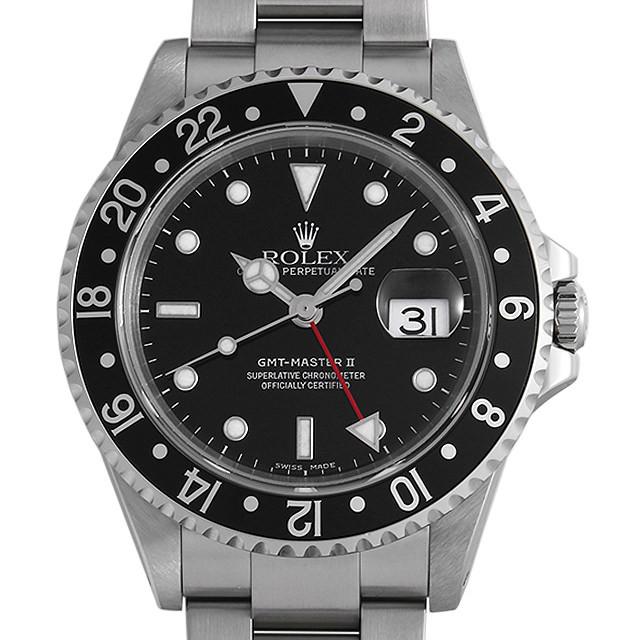 ロレックス GMTマスターII 黒ベゼル 16710 P番