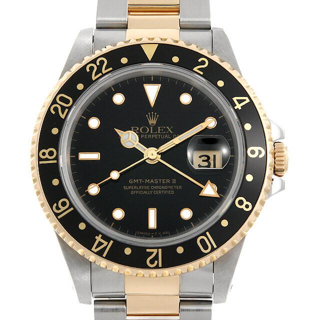 ロレックス GMTマスターII 16713 ブラック S番