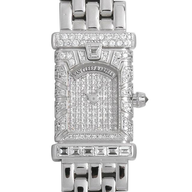 彼女へのクリスマスプレゼント 高級腕時計 ヴァンクリーフ&アーペル ファサード 全面ダイヤ