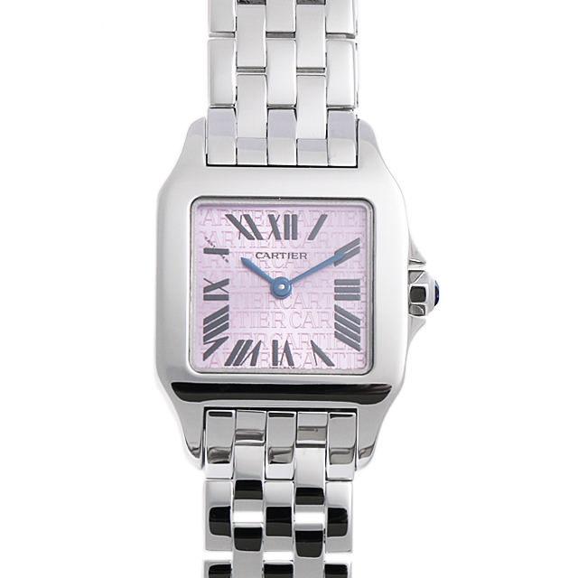 彼女へのクリスマスプレゼント 高級腕時計 カルティエ サントス ドゥモワゼル SM 2008年クリスマス限定 W2510002