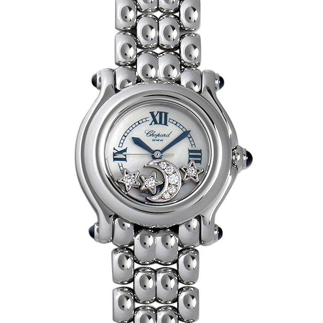 彼女へのクリスマスプレゼント 高級腕時計 ショパール ハッピースポーツ ムーン&スター 27/8250-23