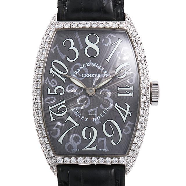 フランクミュラー トノーカーベックス クレイジーアワーズ ダイヤモンド 5850CH D OG 中古 メンズ