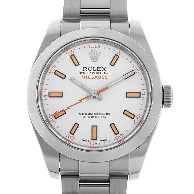 ロレックス ミルガウス 116400 ホワイト V番 中古 メンズ