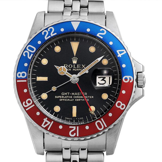 ロレックス GMTマスター 1675 ブラックミラー/小針/ジュビリーブレス 13番 アンティーク メンズ