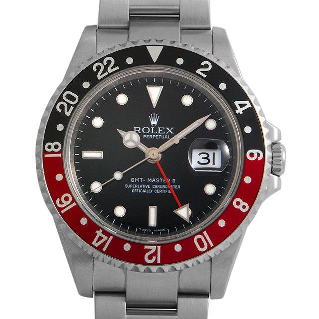 ロレックス GMTマスターII 赤黒ベゼル 16710 レクタンギュラーダイアル D番