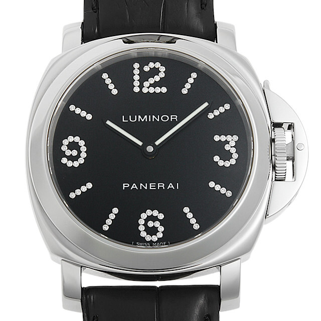 パネライ ルミノール ベース ダイヤモンドコレクション 世界限定100本 PAM00130 E番 中古 メンズ