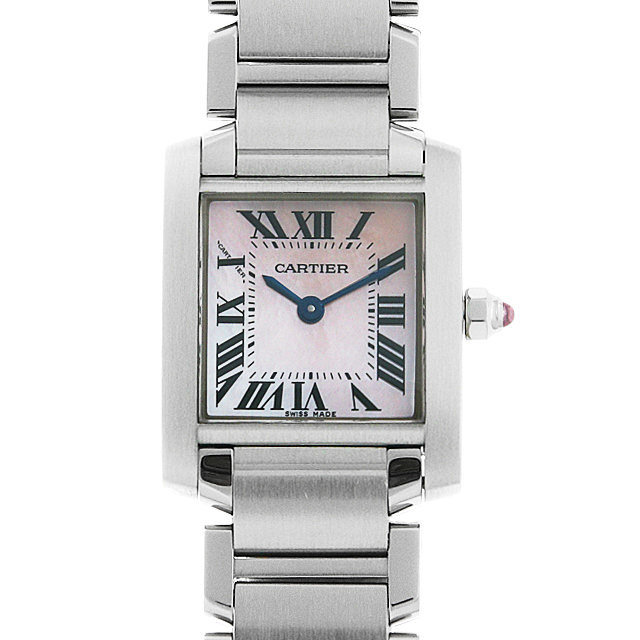 彼女へのクリスマスプレゼント 高級腕時計 カルティエ タンクフランセーズ SM W51028Q3